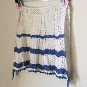 Hand Knit Vintage Apron